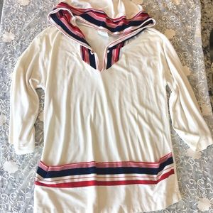 Vtg hooded blouse tunic